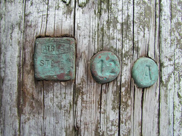 bolværksmærker i kobber