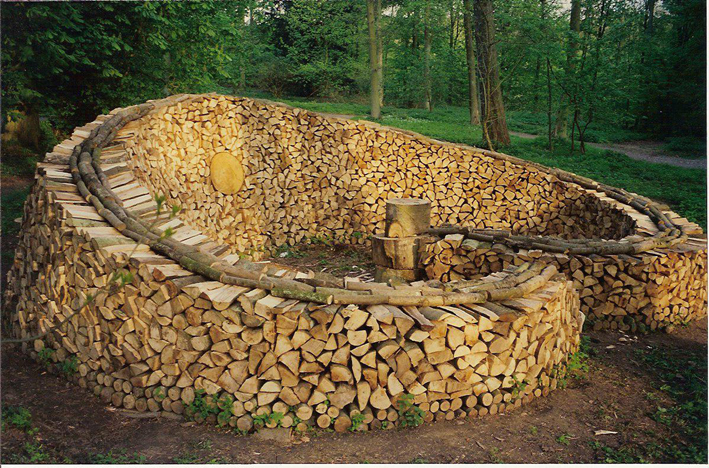 firewood sculpture